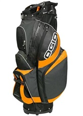 Ogio Syncro cart bag, pinstripe/juice