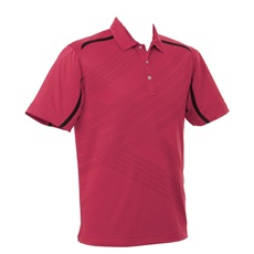 Callaway Short Sleeve Abstract polo, vínové