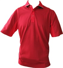 Callaway Short Sleeve Striped polo - červené