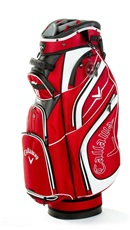 Callaway Euro Chev Luxury cart bag 13, červeno/bílý