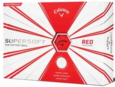 Callaway Supersoft Matte Red golfové míče