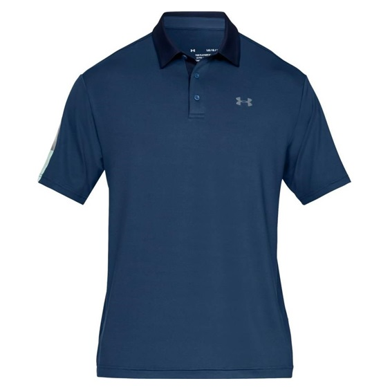 Under Armour Playoff 2.0 pánské polo, mediterranean blue