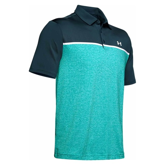 Under Armour Playoff 2.0 pánské polo, tandem blue teal