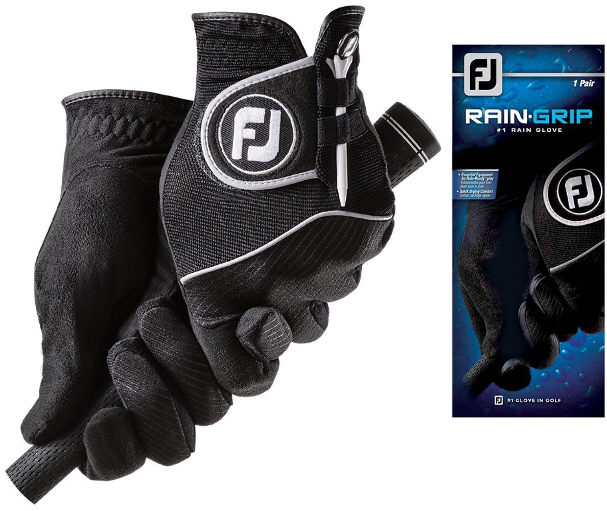 FootJoy RainGrip pánské rukavice, 1 pár + markovátko, týčko černá, pár (na obě ruce), S