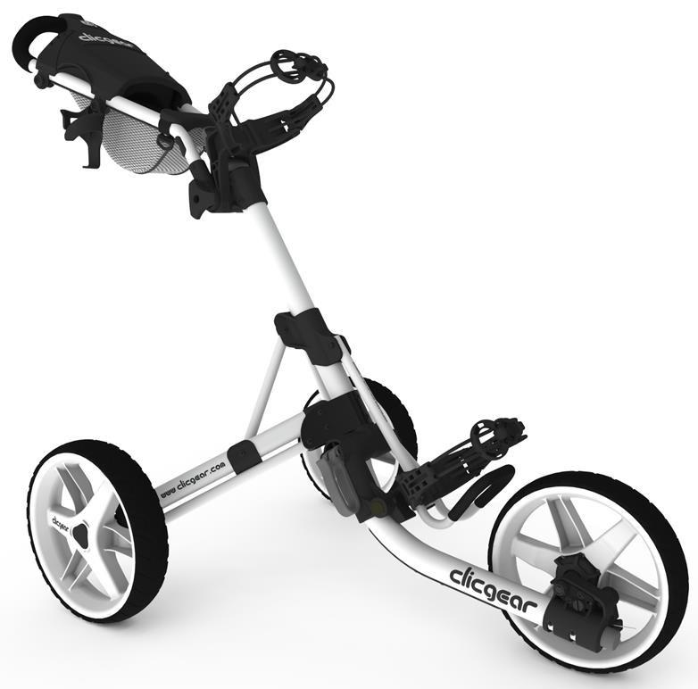 Clicgear 3.5+ golfový vozík, bílý
