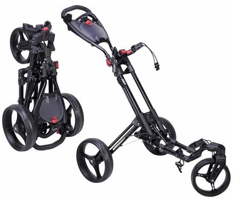 Fast Fold 360 golfový vozík, 3-kolový, černý