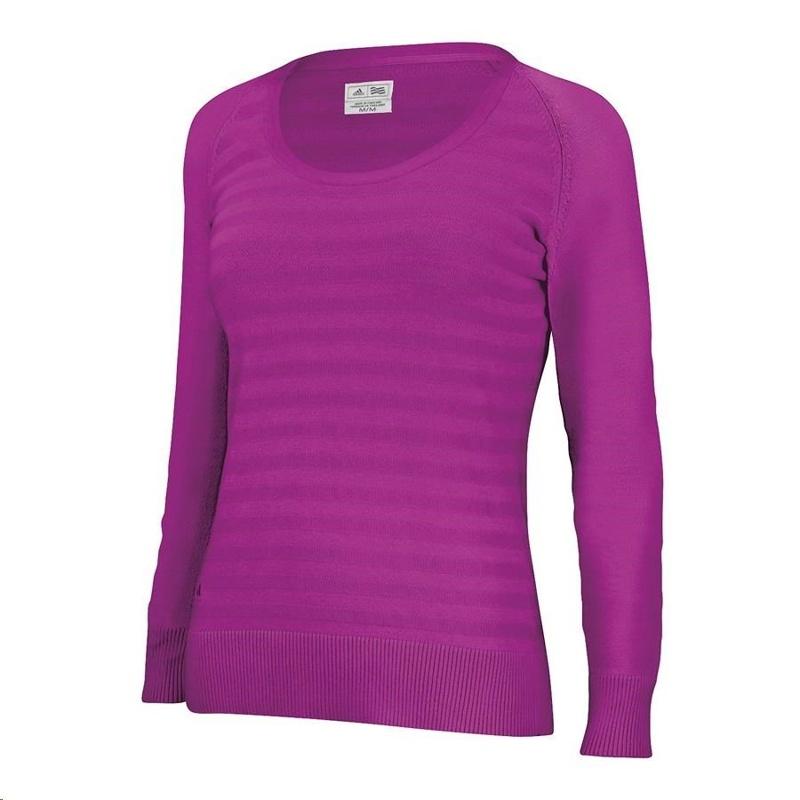 Adidas Scoopneck dámský svetr, fialový dámské, XL
