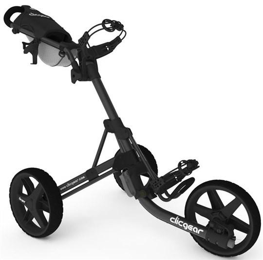 Clicgear 3.5+ golfový vozík, lesklý černý