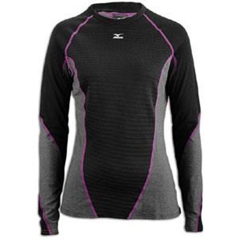 Mizuno Breath dámské thermo tričko, černo/šedé dámské, XL