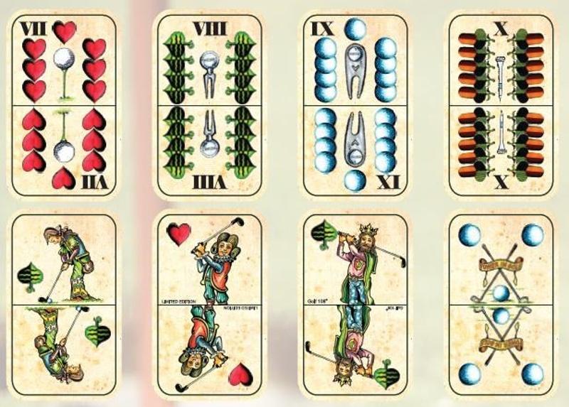 Golfové hrací karty pro Mariáš, edice Retro