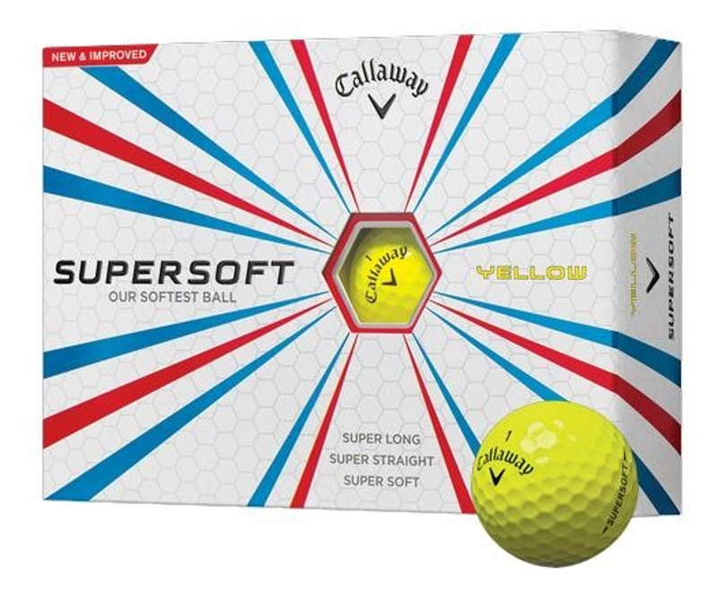 Callaway Supersoft Yellow golfové míčky