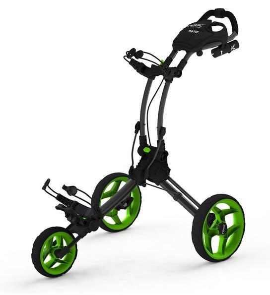 Clicgear Rovic RV1C golfový vozík, šedý/zelená kola