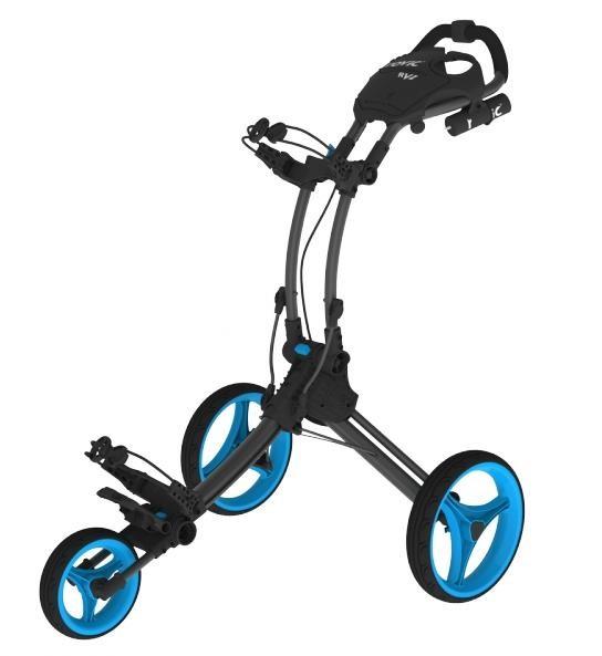 Clicgear Rovic RV1C golfový vozík, šedý/modrá kola