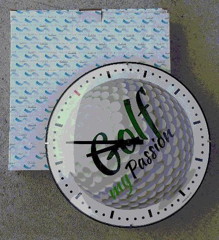 Nástěnné hodiny s golfovým motivem, 31 cm