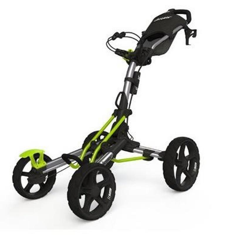 Clicgear 8.0 golfový vozík, stříbrno/černo/zelený