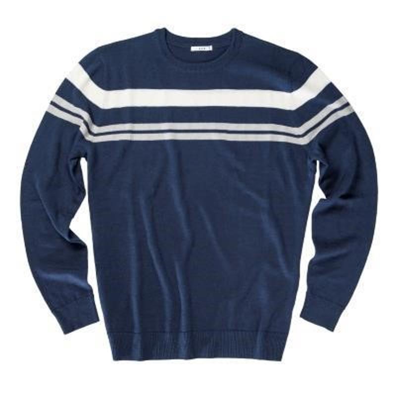 AUR Chest Stripe pánský svetr, modrý pánské, XL