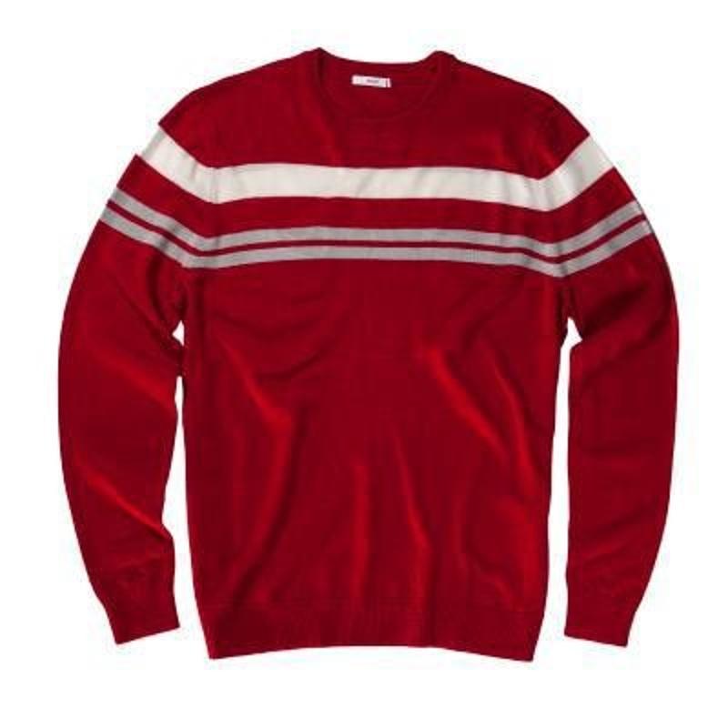 AUR Chest Stripe pánský svetr, červený pánské, XXL