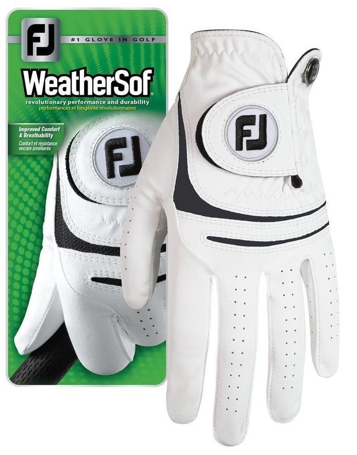 FootJoy WeatherSof pánská rukavice + markovátko bílá, levá (pro praváky), L