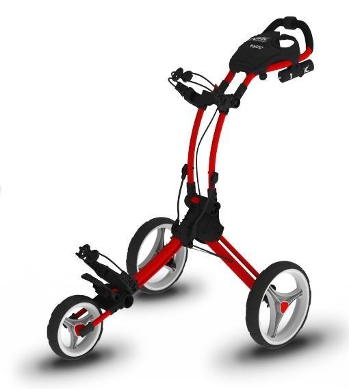 Clicgear Rovic RV1C golfový vozík, červený/bílá kola