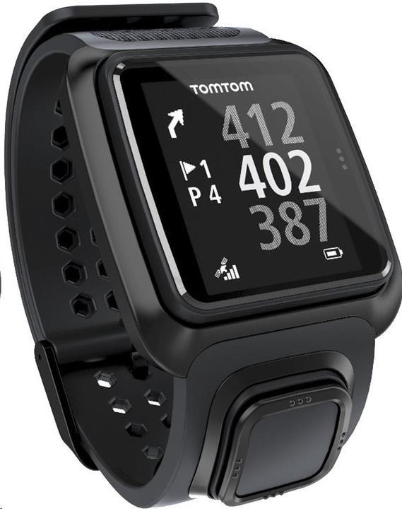 TomTom Golfer GPS golfové hodinky, černé