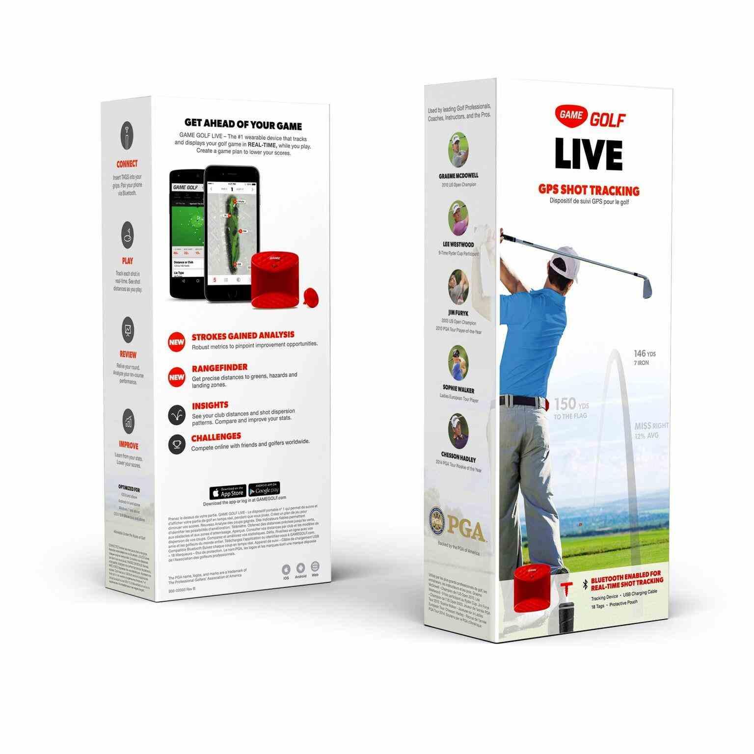 Game Golf Live digitální analýza hry + čtečka