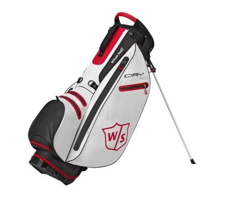 Wilson Staff Dry Tech stand bag, bílý