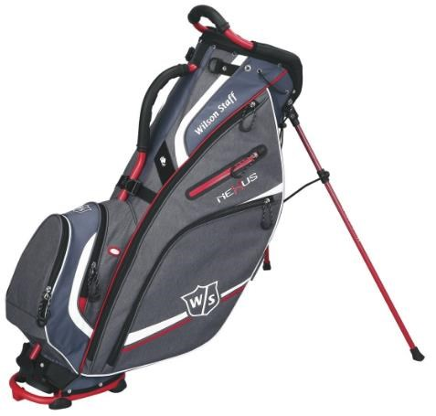 Wilson Nexus II stand bag, šedo/červený