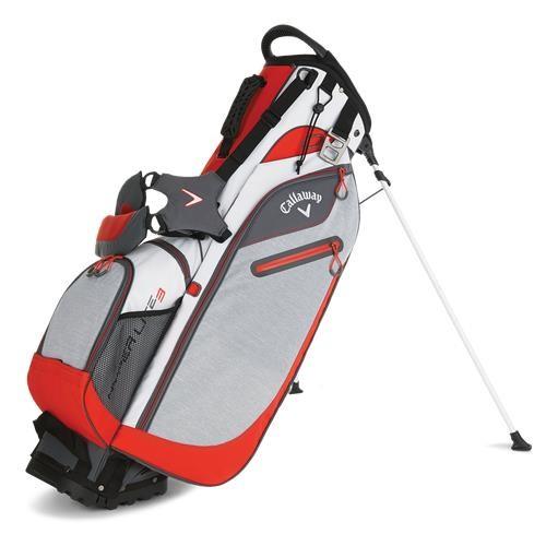 Callaway Hyper-Lite 3 stand bag, bílo/šedo/oranžový