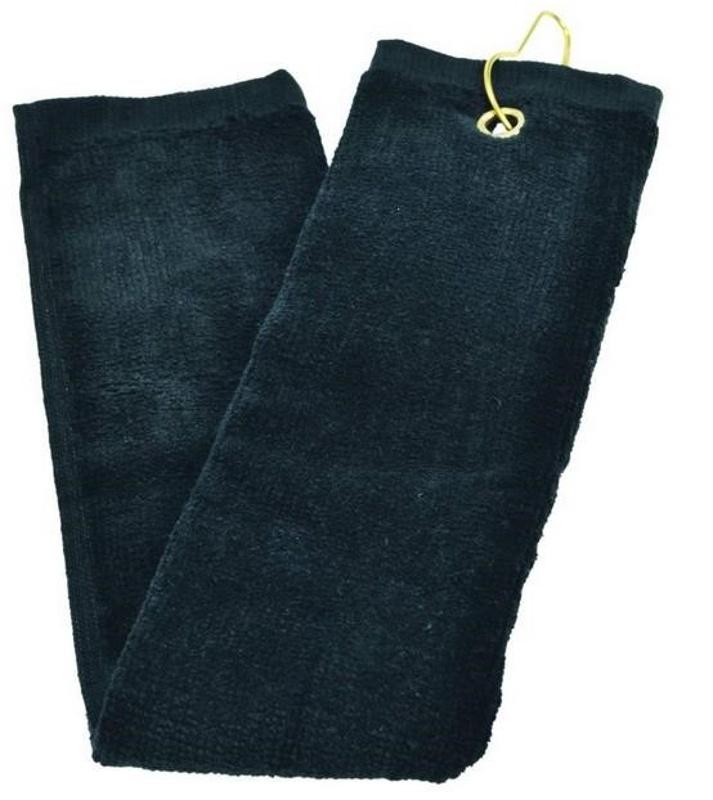 Longridge Three Fold golfový ručník, černý