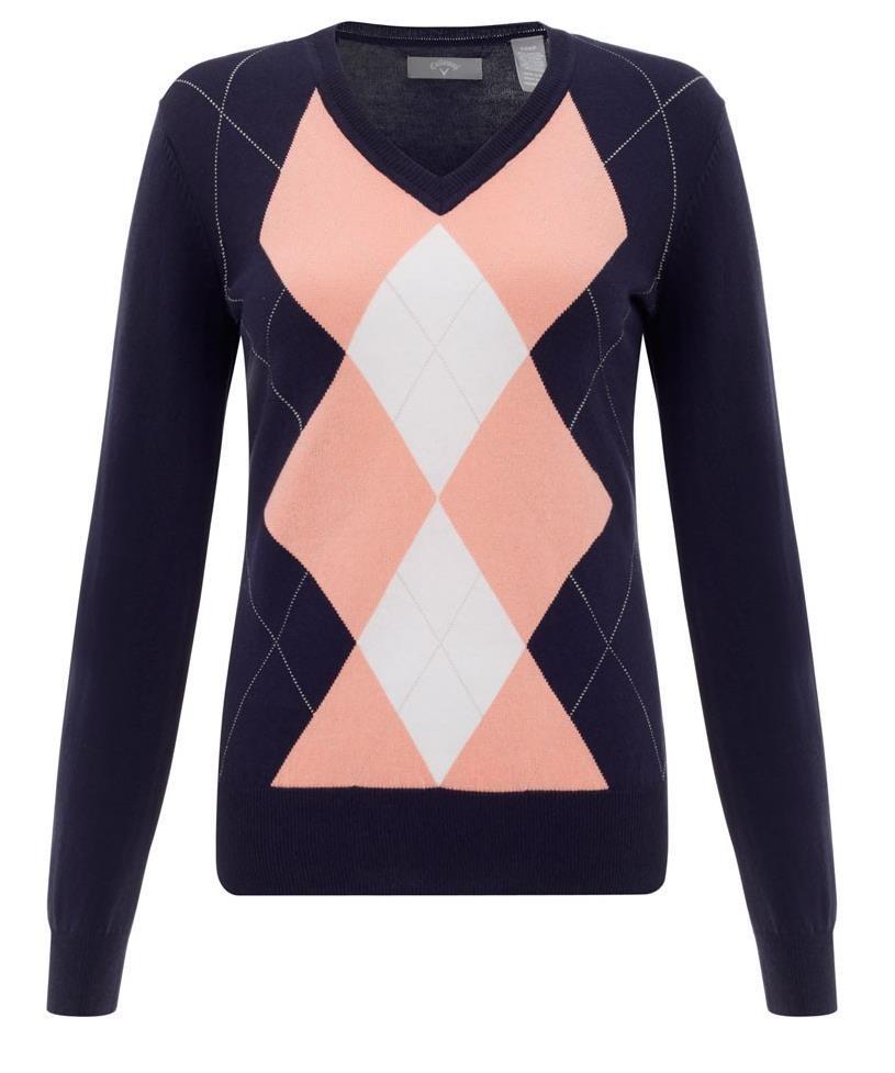 Callaway Fashion Argyle dámský svetr, modrý dámské, S