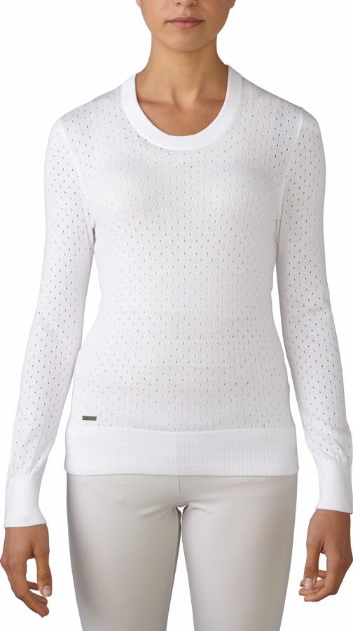 Adidas essentials crew dámský svetr, bílý dámské, XS