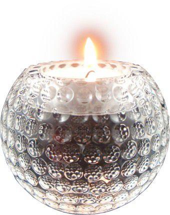 Longridge skleněný svícen ve tvaru golfového míčku