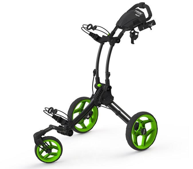 Clicgear Rovic RV1S Swivel vozík, černo/zelený