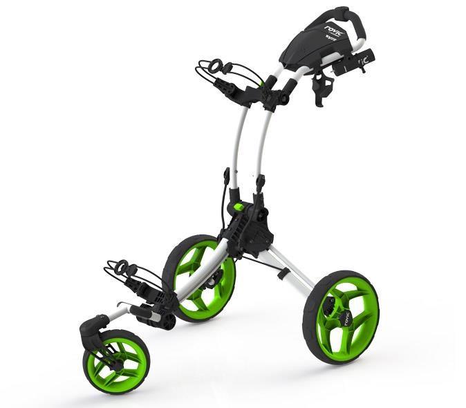 Clicgear Rovic RV1S Swivel vozík, bílo/zelený