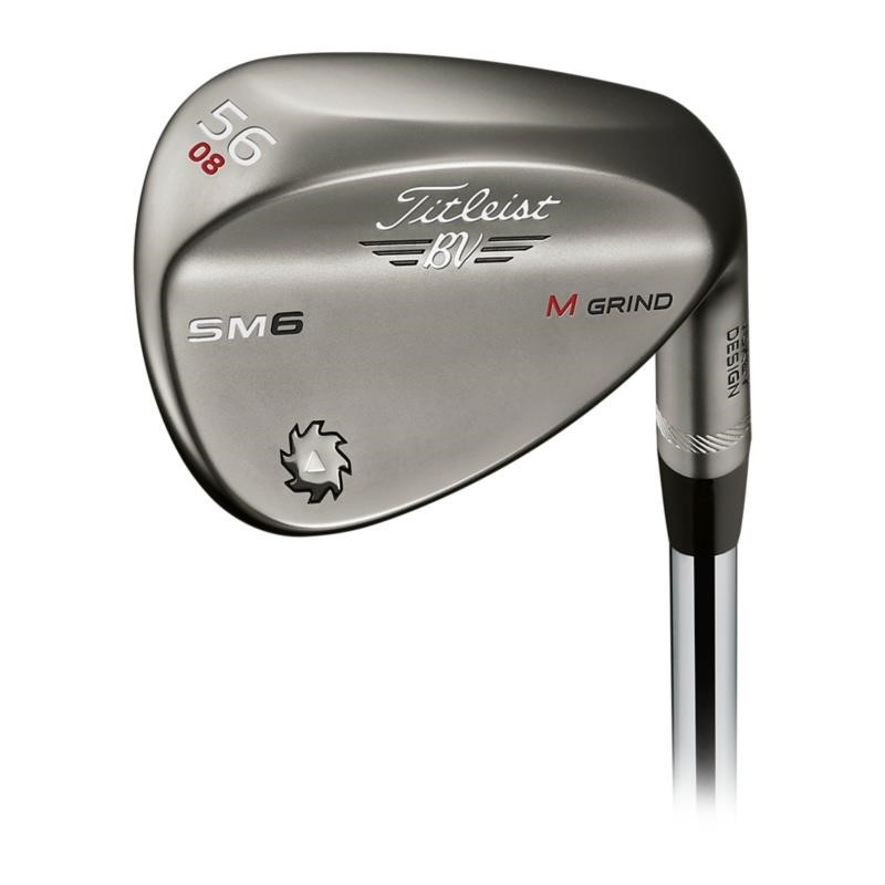 Titleist Vokey Design Steel Grey SM6 wedge pravé, 46°, wedge, ocel, True Temper Dynamic Gold, univerzální, 8°, F grind