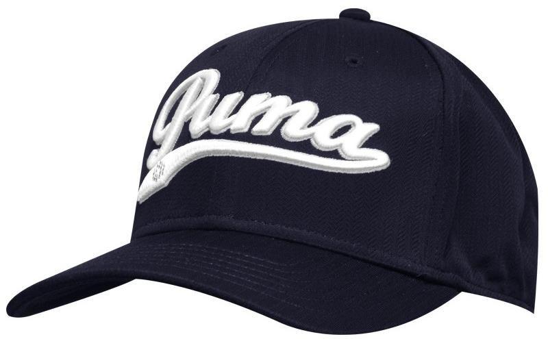Puma Script Cool Cell Snapback golfová kšiltovka, modro/bílá tmavě modrá, kšiltovka, pánské, univerzální