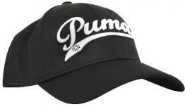 Puma Script City Cell Relaxed golfová kšiltovka, černo/bílá černá, kšiltovka, pánské, univerzální