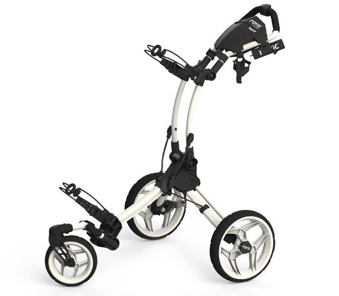 Clicgear Rovic RV1S Swivel golf trolley, arctic/white