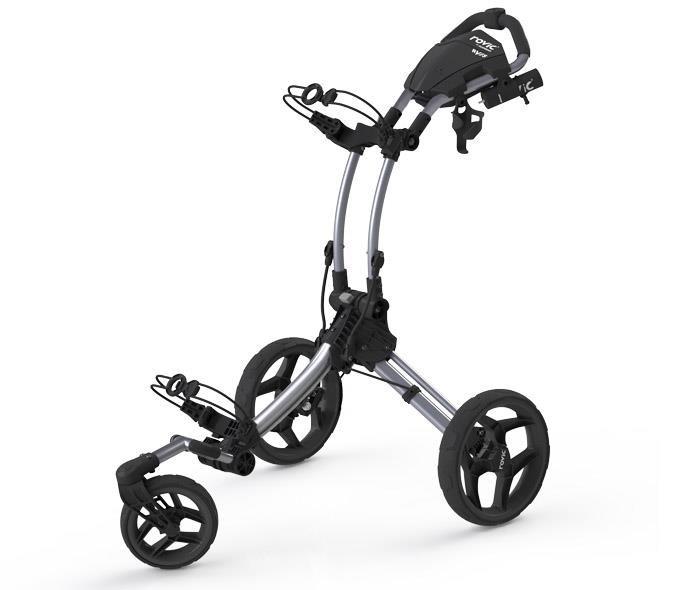 Clicgear Rovic RV1S Swivel golf trolley, silver/black