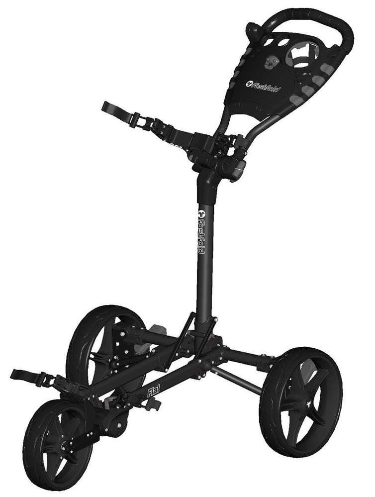 Fast Fold Flat Fold golfový vozík, 3-kolový, černý