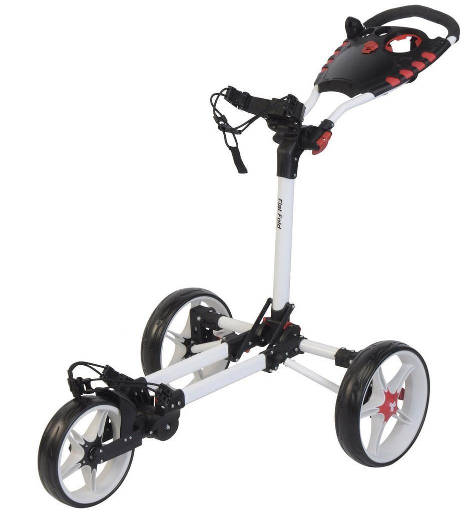 Fast Fold Flat Fold golfový vozík, 3-kolový, bílý