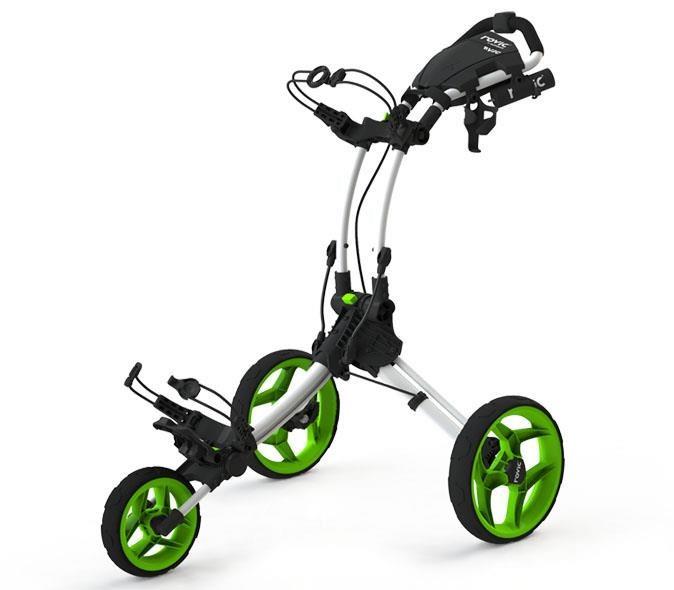 Clicgear Rovic RV1C golfový vozík, bílý/zelená kola