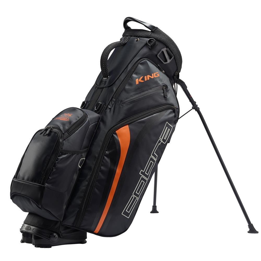 Cobra King stand bag, černo/oranžový