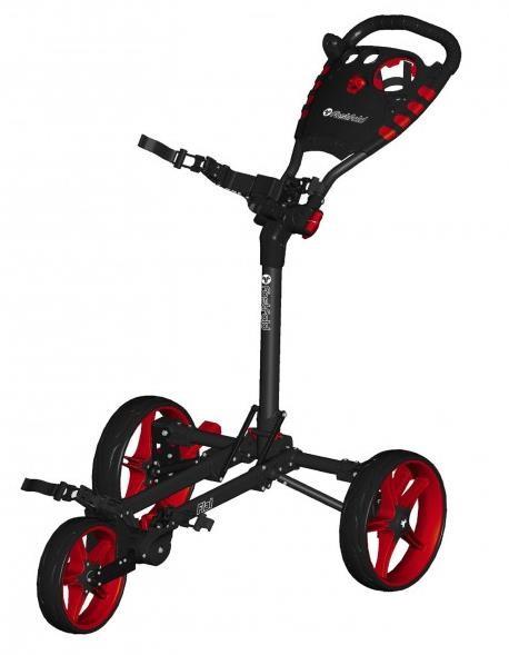 Fast Fold Flat Fold golfový vozík, černo/červený
