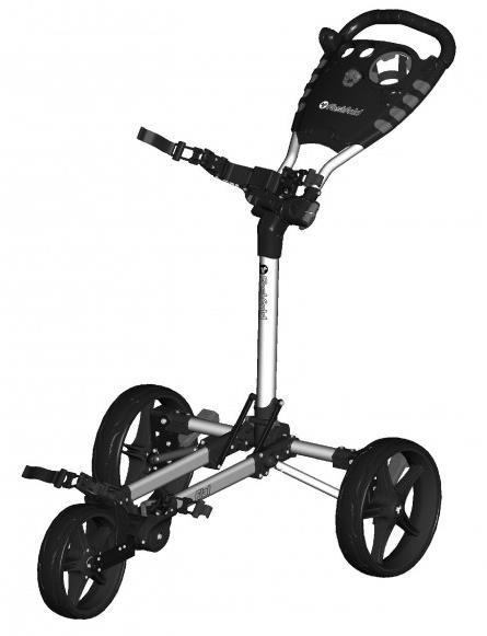 Fast Fold Flat Fold golfový vozík, šedo/černý