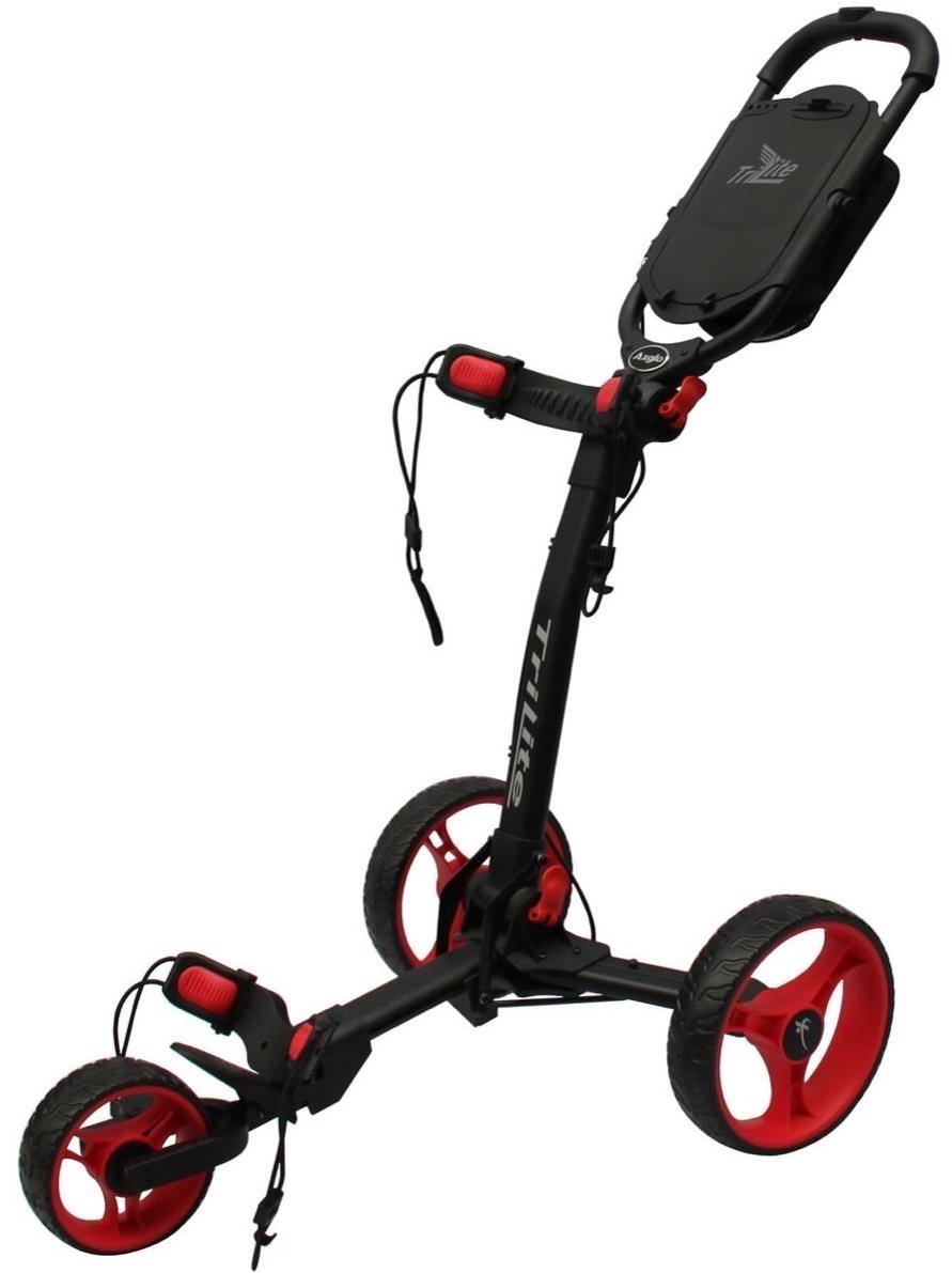 Axglo TriLite golfový vozík, černý/červená kola