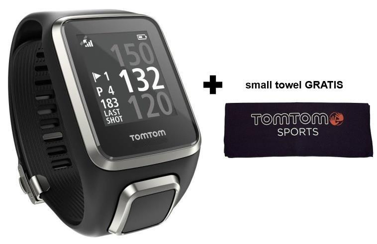 TomTom Golfer 2 GPS golfové hodinky, černé, řemínek vel. L
