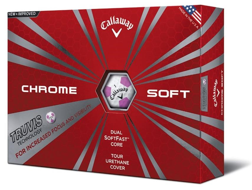 Callaway Chrome Soft Truvis Pink golfové míčky
