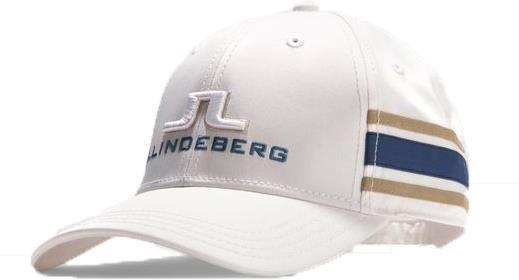 J.Lindeberg Aber Tech Stretch pánská kšiltovka, bílo/modro/zlatá bílá, kšiltovka, pánské, univerzální