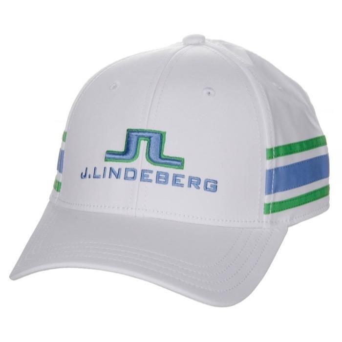 J.Lindeberg Aber Tech Stretch pánská kšiltovka, bílo/modro/zelená bílá, kšiltovka, pánské, univerzální